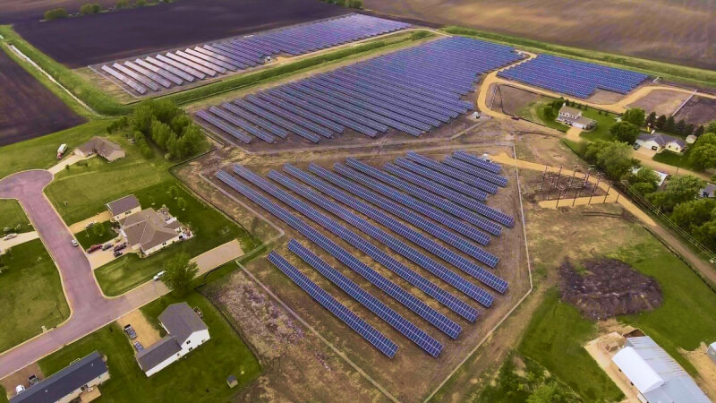 Ground mount solar project in Mapleton, MN