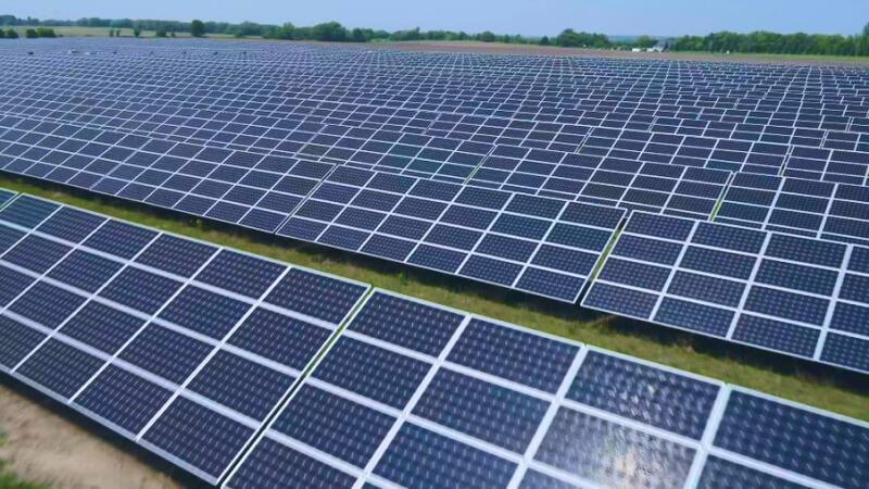 Ground-mount solar farm in Montevideo, MN