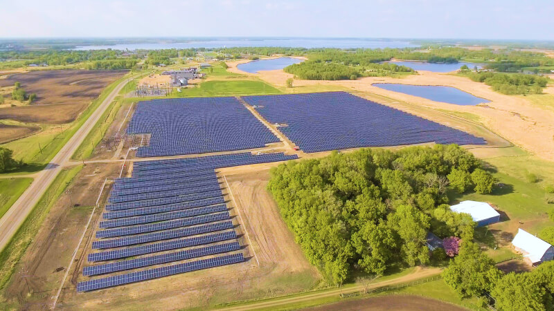 Ground-mount solar solution for Osakis, MN