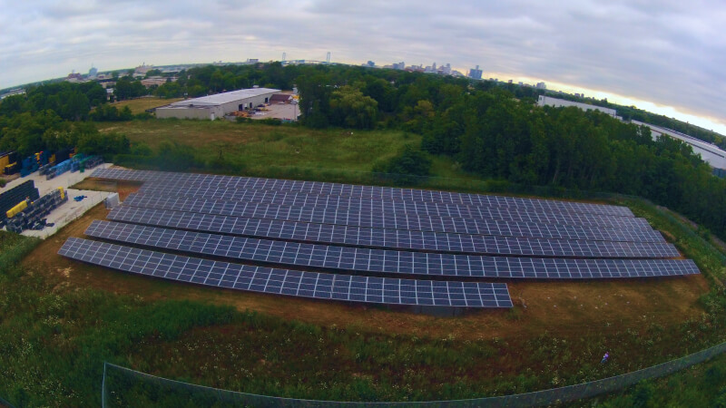 Ground mount solar Project in Windsor, ON