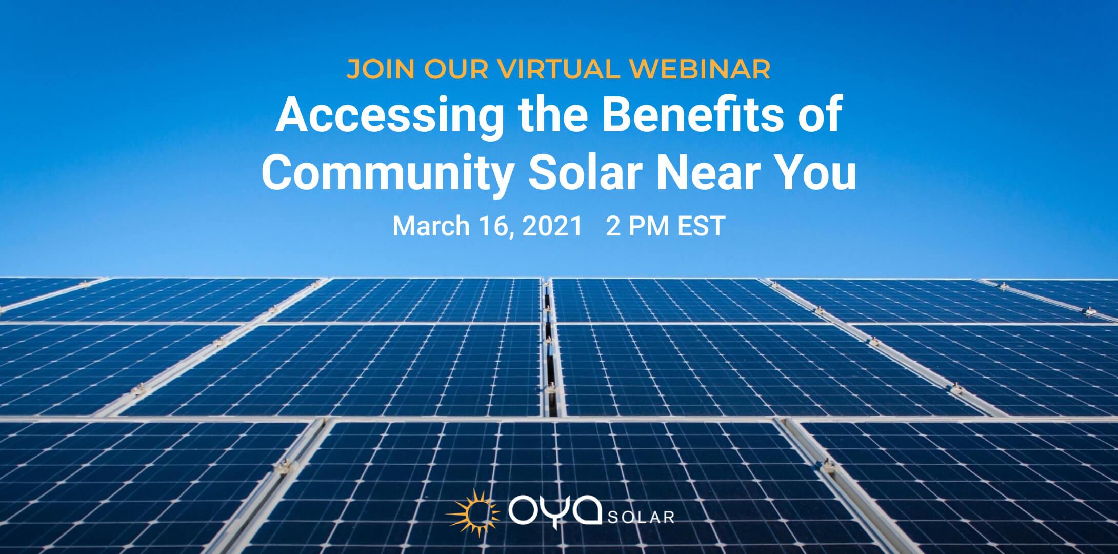 Accessing the Benefits of Community Solar Webinar: Transcript and Video